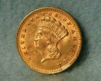 1857 INDIAN PRINCESS UNITED STATES ONE $1 DOLLAR GOLD COIN S