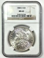 1888-O MORGAN SILVER DOLLAR - NGC MINT STATE 63 - WOW LUSTER