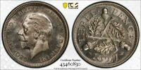 I106 GREAT BRITAIN 1927 3 PENCE PCGS PROOF 67 TIED FOR FINEST