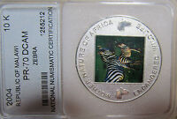 2004 MALAWI ENDANGERED SPECIES 10 KWACHA  ZEBRA
