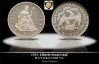 1880  LIBERTY SEATED  25C NGC PF 67 ULTRACAMEO CENSUS RECORD   PQ! P.N.G.M