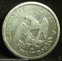 US     SEATED LIBERTY   1845 HALF DOLLAR