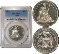 1866 W/MOTTO LIBERTY SEATEDHALF DOLLAR  PROOF  PCGS PR62  EYE APPEAL