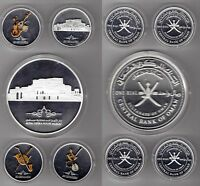 OMAN   5 SILVER PROOF 1 RIAL COINS SET 2011 YEAR KM168 172 OPERA HOUSE GIANT