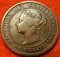 1897 HIGH GRADE CANADA LARGE CENT VICTORIA COIN NORES CANADIAN