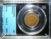 US 1869 TWO CENTS