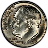 1976 D 10C ROOSEVELT DIME CLAD MINT STATE UNCIRCULATED HIGH QUALITY US COING22