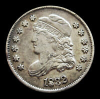 1832 SILVER UNITED STATES CAPPED BUST HALF DIME ABOUT UNCIRCULATED CONDITION