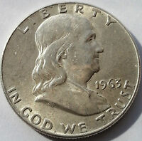 1963 D 50C FRANKLIN HALF DOLLAR                                             F02