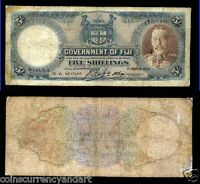 FIJI 1935 FIVE SHILLINGS PICK 31C  KING GEORGE V LAST YEAR OF  THIS DESIGN