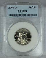 2000 D SAC$1 MINT STATE SACAGAWEA DOLLAR EXCELLENT HIGH GEM QUALITY US COINF21