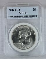 1974 D EISENHOWER DOLLAR IKE $1 MS/BU/GEM BRILLIANT UNCIRCULATED US COIN E21