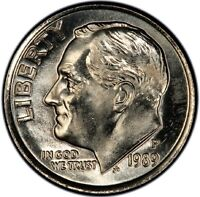 1989 P 10C ROOSEVELT DIME CLAD MINT STATE UNCIRCULATED HIGH QUALITY US COING22