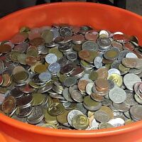 10 LBS MIXED FOREIGN COINS BULK WORLD COINS BY THE POUND  MANY COUNTRIES