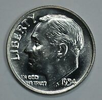 1954 D ROOSEVELT SILVER UNCIRCULATED DIME BU SEE STORE FOR DISCOUNTS BL41