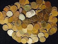 LOT OF 300 COINS MIXED INDIAN HEAD CENT PENNIES IN AVERAGE CIRC  1800'S  1900'S