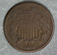 1870 TWO CENT PIECE - PROBLEM-FREE GOOD CONDITION