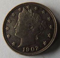 1902 5 CENT LIBERTY HEAD NICKEL  SHARP LIBERTY AWESOME DETAILS