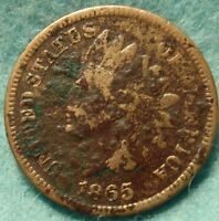 1865 INDIAN HEAD  GRADE GREAT DETAILS NO RESERVE -