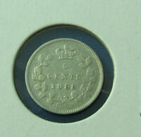 CANADA 1888 5 CENTS NICE COIN SCRATCHED OBSERVE