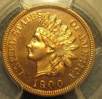 BEAUTIFUL 1900 PROOF UNCIRCULATED INDIAN CENT PCGS QUEST. COLOR
