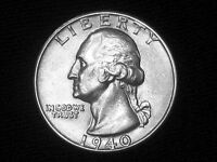 1940 WASHINGTON QUARTER     ALMOST UNCIRCULATED      LOOKS BU   1