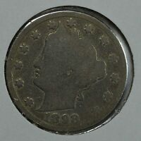 1898 LIBERTY HEAD CIRCULATED NICKEL SEE STORE FOR DISCOUNTS  YE33