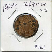 1866 2 CENT RED/BROWN. CIRCULATED. LOT918