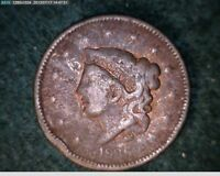 1836  LARGE CENT F201 OLD CORONET / MATRON HEAD DESIGN PRE CIVIL WAR TYPE COIN