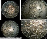 GREAT TONING   SILVER COIN   1787 GREAT BRITAIN 6P SIX PENCE