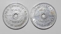 TWO 2 WASHINGTON STATE TAX TOKENS   1935