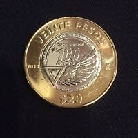 JUST RELEASED UNC MEXICO 20 PESOS 1915   2015 100 YEAR  MEXICAN AIR FORCE COIN