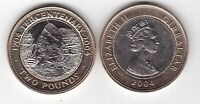 GIBRALTAR  BIMETAL 2 POUNDS UNC COIN 2004 YEAR KM1057 SHIP NAVAL BATTLE