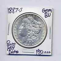 1887-S MORGAN DOLLAR  KEY DATE US MINT PQ STUNNER SILVER COIN HIGH GRADE