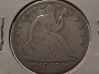 1853 O SEATED LIBERTY HALF DOLLAR ARROWS AND RAYS