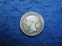 QUEEN VICTORIA R 1837 1901: 1860 SILVER YOUNG HEAD THREEPENCE    COIN