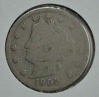 1902 LIBERTY HEAD CIRCULATED NICKEL SEE STORE FOR DISCOUNTS  YE33