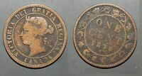 1876 H CANADA LARGE CENT   SOLID GOOD       STKPB39