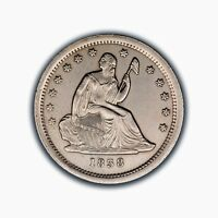 1838 LIBERTY SEATED QUARTER   UNC DETAILS