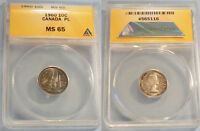 1960 ANACS PL MS65 CANADA DIME 10C PROOF LIKE MS 65