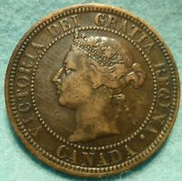 1888 XF HIGH GRADE CANADA LARGE CENT VICTORIA COIN NORES CANADIAN