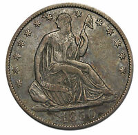 1850O SEATED SILVER LIBERTY HALF DOLLAR 50 COIN LOT MZ 1381