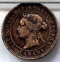 1881H CANADIAN LARGE CENT  FREE SHIP U.S. CANADA $1.00