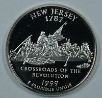1999 S NEW JERSEY STATE SILVER PROOF QUARTER    SEE STORE FOR DISCOUNTS BR14