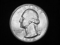 1934 D WASHINGTON QUARTER     ALMOST UNCIRCULATED      LOOKS BU   1