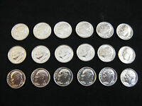 1989 TO 1997 P&D ROOSEVELT DIMES      ALL UNCIRCULATED