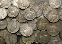 1942 P   1945 S MIXED 35 SILVER WAR NICKELS CIRC. ROLL OF 40 SILVER COINS
