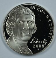 2008 S JEFFERSON PROOF NICKEL   SEE STORE FOR DISCOUNTS BL21