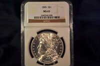 1885 MORGAN NGC MINT STATE 65 APPEARS TO BE VAM 3 WITH  BLAZING LUSTER