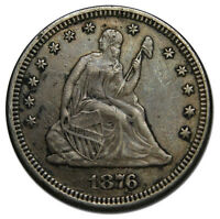 1876 SEATED LIBERTY QUARTER 25 COIN LOT MZ 1890